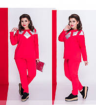 Женский спортивный костюм 50-62р,из итальянского трикотажа, фото 2