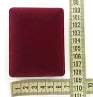 Коробочка (футляр) для подарунка прямокутна 6 см * 7,5 см, висота 3,2 см. Оксамитова, фото 1
