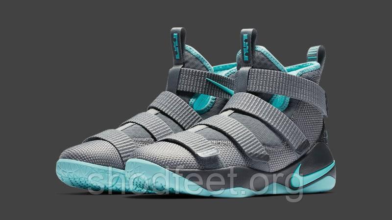 Кроссовки Nike LeBron Soldier 11 Grey-Ice Blue