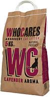 800406 WC WhoCares Lavander Впитывающий наполнитель, 5 кг