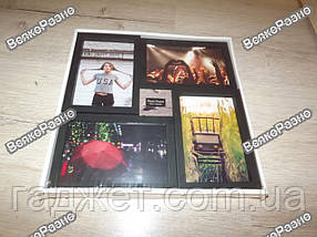 Рамка-Коллаж на 4 фото черного цвета / Фоторамка / Рамка-Коллаж на 4 фото 10х15 см