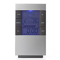 LCD Цифровая метеостанция Комнатный термометр Гигрометр Будильник Дата Синий