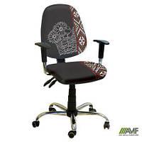 Эргономичное компьютерное кресло Бридж хром Украина №1 с механизмом Multi Fix для подростков и взрослых ТМ AMF 242312