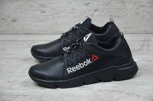 Мужские кожаные кроссовки Reebok  Black