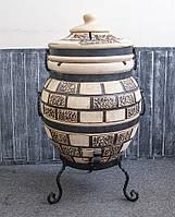 Тандыр 75 литров Кирпич + подарок Набор шампуров 6 шт.