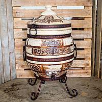 Тандыр Кирпич 50 литров + подарок Набор шампуров 6 шт.