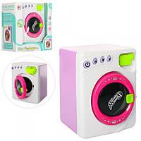Стиральная машина детская игрушечная 6976A, 19см, звук, свет, вращ.барабан, на бат-ке,в кор-ке,22-24-13,5см.