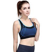 Топ спортивный женский синий, фото 1