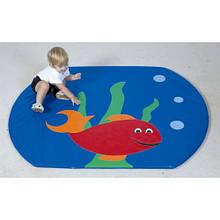 """Детский мат-коврик для развития """"Рыбка"""""""