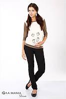 """Брюки-лосины для беременных из плотного трикотажа """"Andy"""", черные, фото 1"""