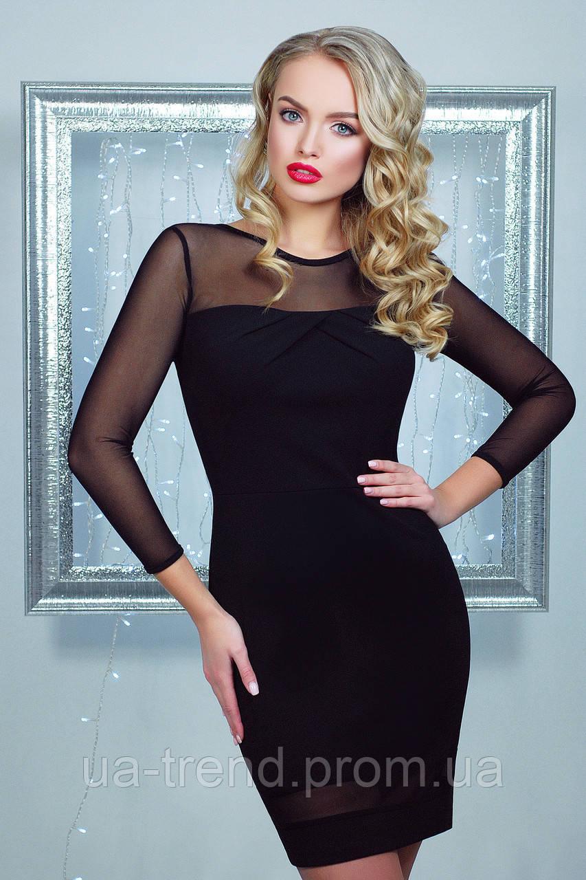 14c774369607381 Коктейльное черное платье - Интернет-магазин украинского текстиля