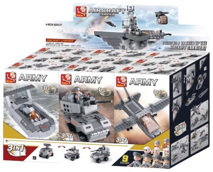 "Конструктор SLUBAN ""Авианосец 9в1"" M38-B0537"