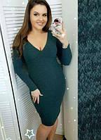Платье трикотажное батал 48-54 размеры
