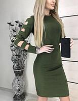 Женское платье цвета хаки