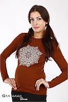 """Трикотажный джемпер (лонгслив) для беременных """"Brooke mandala"""", тофи, фото 1"""