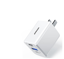 Сетевое зарядное устройство JOYROOM Travel Charger Power IQ TC-075CA 3.4A  USB + Type-C Black