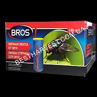 Липкая лента от мух «Брос» (Bros) круглая, оригинал