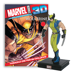 Мініатюрна фігура Герої Marvel 3D №04 Росомаха (Centauria) масштаб 1:16