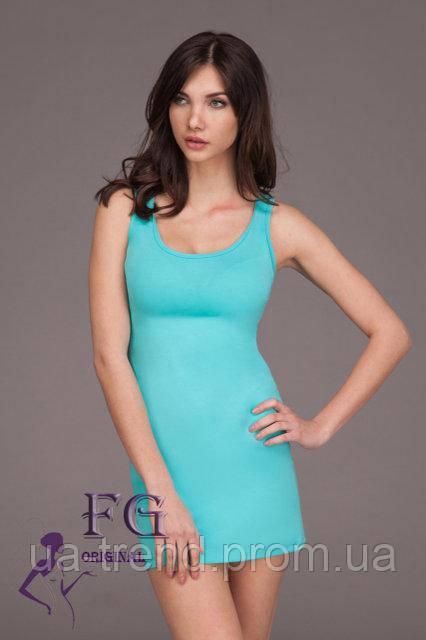 Женское платье майка на лето облегающего силуэта мятного цвета