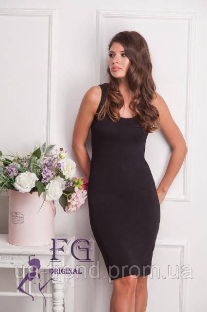 616389587489d76 Повседневное летнее платье облегающего силуэта черного цвета, цена 215  грн., купить в Киеве — Prom.ua (ID#669779203)