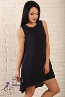 Женское летнее асимметричное платье из креп-шифона