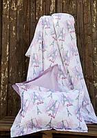 Постельное белье для подростков Lotus Premium B&G Eifel лиловый полуторный размер