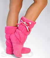 Тапочки сапожки Бантик розовые
