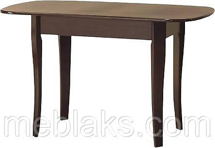 Стол деревянный раскладной «Даллас» для кухни орех Модуль Люкс