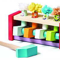 Детская деревянная игрушка клоуны – стучалка Cubika 13746
