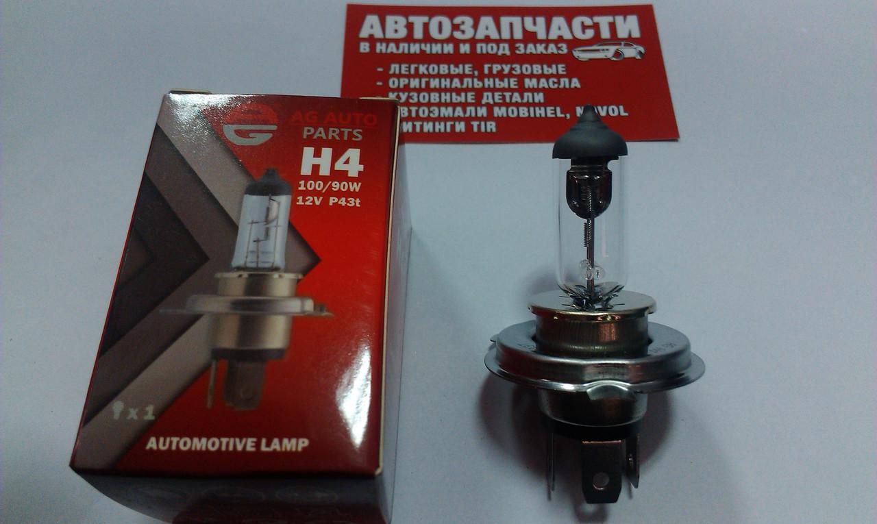 Лампа галогенная AG 43-й цоколь H4 12V 90/100W