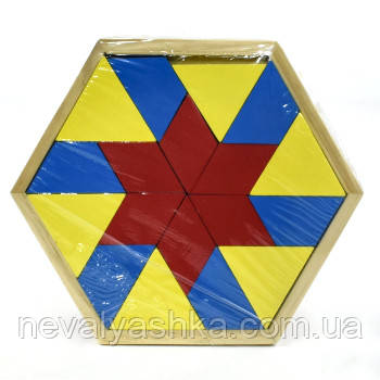 Деревянная игрушка Логика Геометрика Разноцветная, F21455, 006931