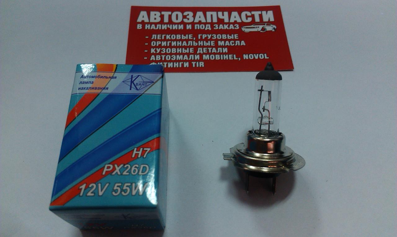 Лампа H-7 55W 12V Квант