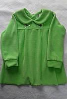 Платье велюровое для девочки 1-2 года салатовое