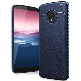 Чехол накладка для Motorola Moto G6 силиконовый, IVSO Gentry Series, Темно-синий