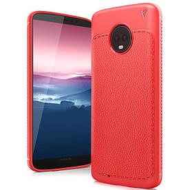 Чехол накладка для Motorola Moto G6 силиконовый, IVSO Gentry Series, красный