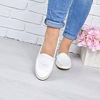 Туфли балетки женские белые , женская обувь