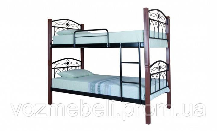 Кровать Элизабет двухъярусная 90*200