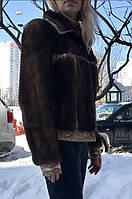 Куртка норковая с отделкой кожи Дизайнерская