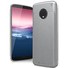 Чехол накладка для Motorola Moto G6 силиконовый, IVSO Gentry Series, серый