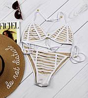 Стильный, женский, раздельный купальник с подкладкой nude (реплика модного бренда) РАЗНЫЕ ЦВЕТА