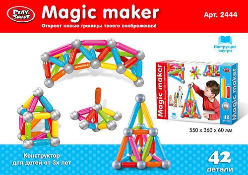 Магнитный конструктор (крупные детали), 42 детали. PlaySmart 2444