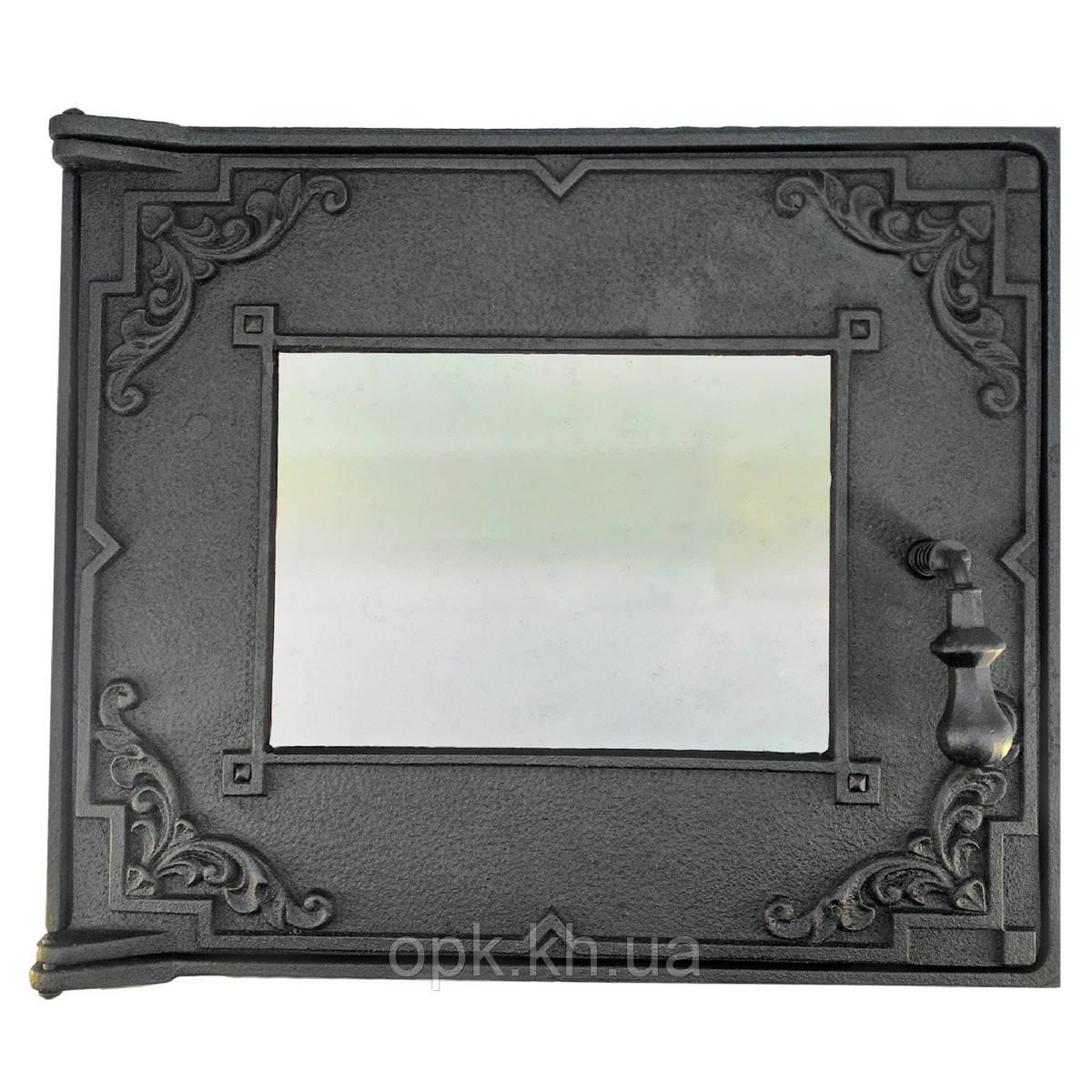 """Духовка чугунная дверка со стеклом 454""""385""""515 мм (вес - 70 кг)"""