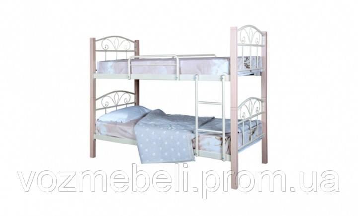 Кровать Лара Люкс Вуд двухъярусная 90*200