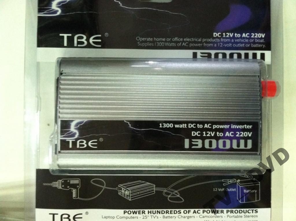 Преобразователь инвертор 12V-220V TBE 1300W