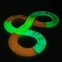 DIY Enlighten Волшебный LED Треки изгиб свечения в темноте 165 штук Race Track Kids Toys Gift