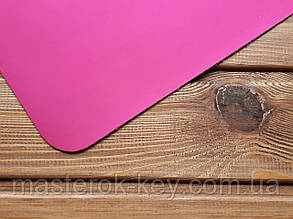 Искусственная кожа Лак mikrofibra Италия цвет ярко-розовый мат