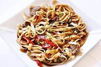 Спагетти с карамелизированным луком