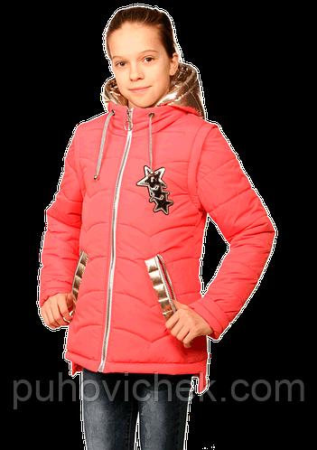 Куртки жилетки весенние для девочек подростков