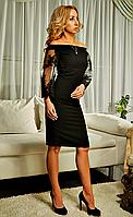 Шикарное платье с вышитыми рукавами