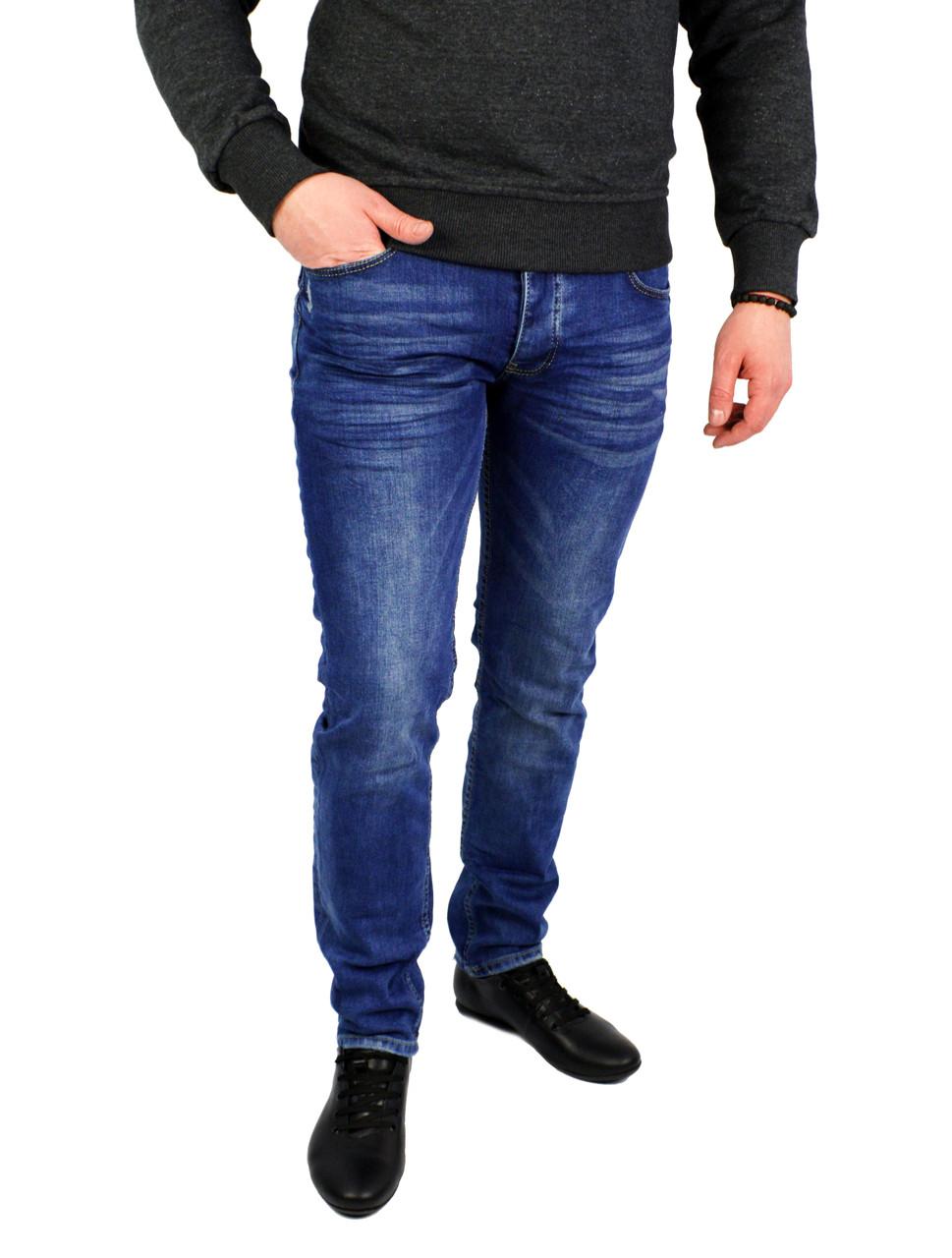 Синие мужские джинсы зауженные V.I.P. MARIO